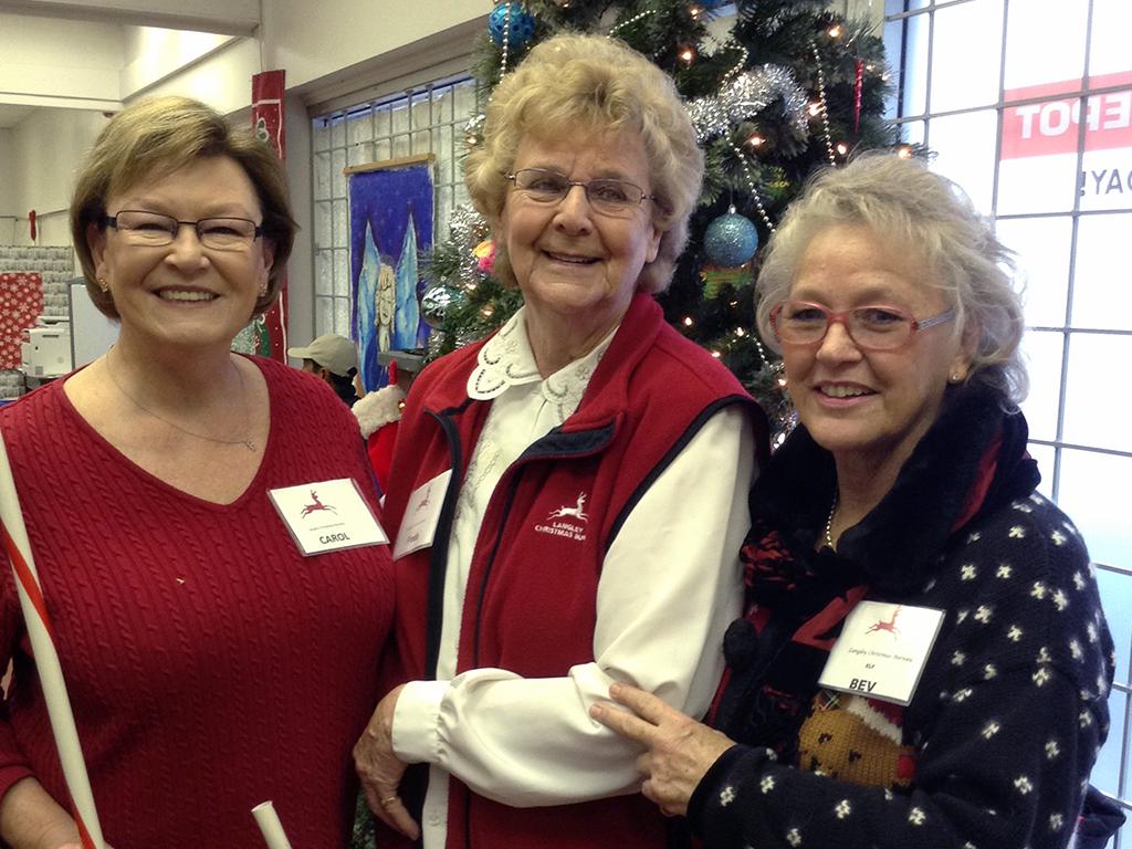 Langley Christmas Bureau Carol, Freda & Bev 2014