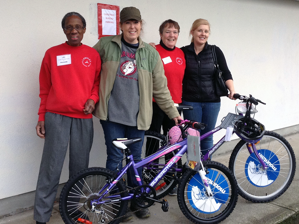 Langley Christmas Bureau Bike give away